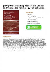 [PDF] Understanding Research in Clinical and Counseling ...