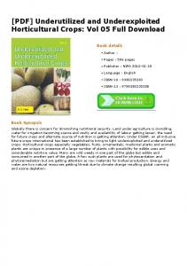 [PDF] Underutilized and Underexploited Horticultural ...