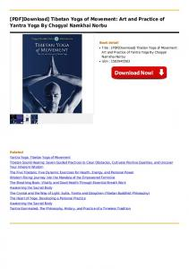[PDF]Download] Tibetan Yoga of Movement: Art and ...