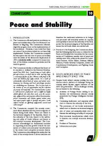 Peace and Stability -