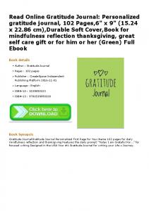 Personalized gratitude journal, 102 Pages,6