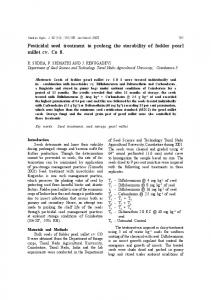 Pesticidal seed treatment to prolong the storability of ...