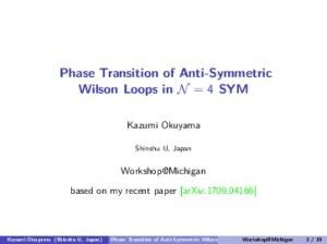 Phase Transition of Anti-Symmetric Wilson Loops in N ...