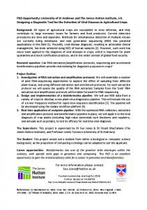 PhD Opportunity: University of St Andrews and The ... -