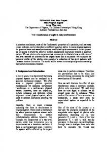 PHY4610H Final Year Project Mid-Program Report ...