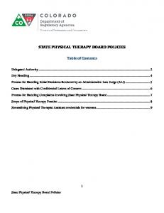 Physical Therapy Policies.pdf