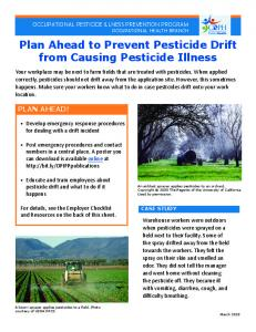 Plan Ahead to Prevent Pesticide Drift from Causing Pesticide Illness
