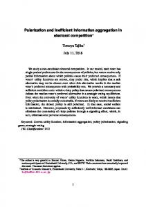 Polarization and inefficient information aggregation in ...