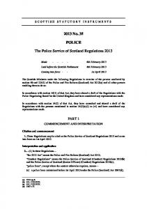 Police Service of Scotland Regulations 2013 ssi_20130035_en.pdf ...