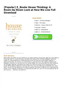 [Popular] E_Books House Thinking: A Room-by-Room ...