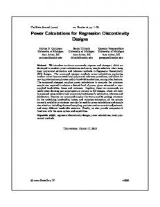 Power Calculations for Regression Discontinuity Designs