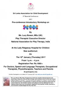 Pre-conference Introductory Workshop on By Ms. Lucy Bowen, MSc ...