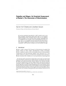 Prejudice and Wages: An Empirical Assessment of ... - Semantic Scholar