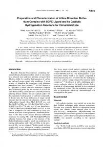 Preparation and Characterization of A New Dinuclear ...