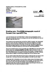 Press Release_Breaking News_First EVER photographic record of ...