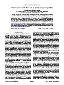 Pressure dependence of the boson peak for ... - APS Link Manager