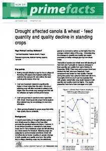 PRIMEFACT Changes in the quantity & quality of drought affected ...