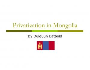 Privatization in Mongolia