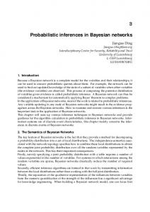 Probabilistic inferences in Bayesian networks