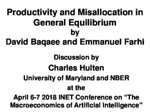 Productivity and Misallocation in General Equilibrium