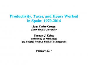 Productivity, Taxes, and Hours Worked in Spain 1975-2000