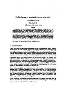 Profit sharing: a stochastic control approach.