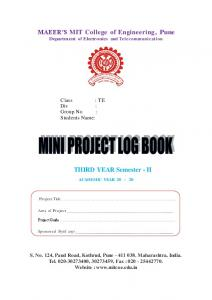 Project Work Book 16-09-2011 -