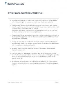 Proof card workflow tutorial
