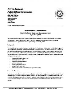 Public Ethics Commission Public Ethics Commission -