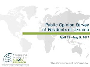 Public Opinion Survey of Residents of Ukraine - International ...