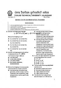 Punjab Technical University Applied Science (Computer Application ...