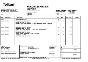 purchase order -