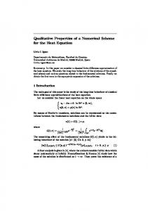 Qualitative Properties of a Numerical Scheme for the ...