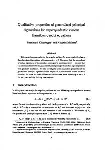 Qualitative properties of generalized principal ...