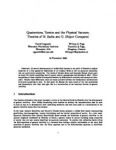 Quaternions, Torsion and Physical Vacuum