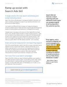 Ramp up social with Search Ads 360  services
