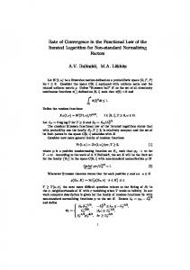 Rate of Convergence in the Functional Law of the ...