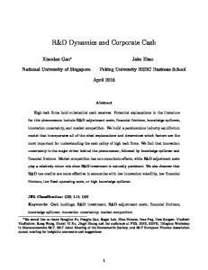 R&D Dynamics and Corporate Cash