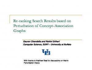 Re-ranking Search Results based on Perturbation of ...