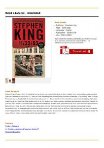 Read 11/22/63 - Download