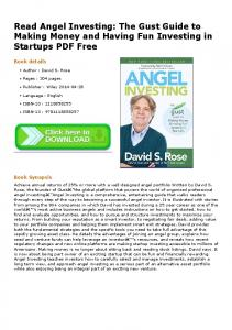 Read Angel Investing: The Gust Guide to Making ...