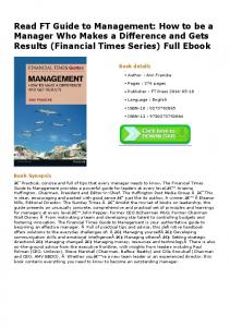 Read FT Guide to Management