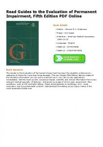 Read Guides to the Evaluation of Permanent ...