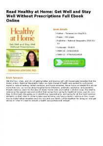 Read Healthy at Home: Get Well and Stay Well Without ...