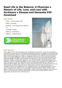 Read Life in the Balance: A Physician s Memoir of Life ...