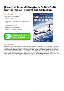 [Read] McDonnell Douglas MD-80 MD-90 (Airliner Color History ...