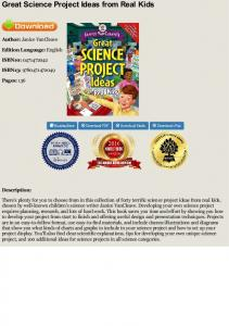 Read online Great Science Project Ideas from Real ...