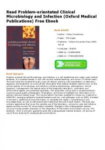 Read Problem-orientated Clinical Microbiology and Infection (Oxford ...