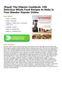 Pdf download the vitamix cookbook 250 delicious pdfkul read the vitamix cookbook 250 delicious whole forumfinder Image collections