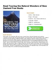 Read Touring the Natural Wonders of New Zealand ...